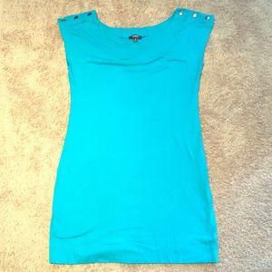 Express turquoise dress/swim cover/tunic